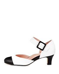 Taryn Rose Toody Leather Mary Jane Pump White