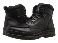 Ecco Track 6 Gtx Moc Toe Boot Black Black Men's Lace Up Boots