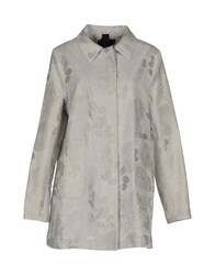 Femme By Michele Rossi Overcoats Light Grey
