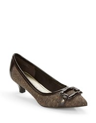 Anne Klein Melanie Kitten Heel Pumps Brown