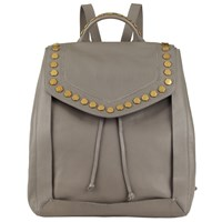 John Lewis Clea Leather Backpack Grey