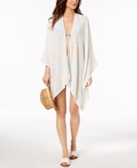 Calvin Klein Textured Weave Cover Up And Shawl Eggshell