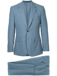 Gieves And Hawkes Formal Fitted Suit Blue