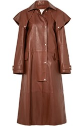 Calvin Klein 205W39nyc Leather Trench Coat Brown