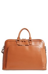 Lodis Brera Leather Briefcase Brown Toffee