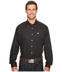 Cinch Solid Long Sleeve Black Clothing