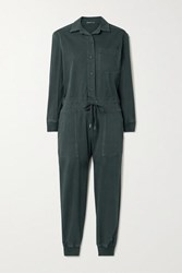 James Perse Stretch Cotton Twill Jumpsuit Black