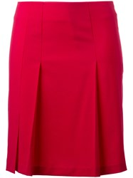 Cacharel Pleated Detail Mini Skirt Pink Purple
