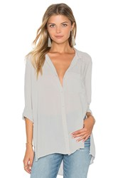 Bella Dahl Side Slit Tunic Gray