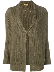 Fay Sparkly Button Cardigan Green