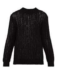 Calvin Klein 205W39nyc Loose Knit Cotton Sweater Black
