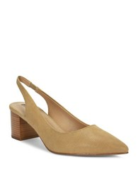 Tahari Revel Leather Pumps Fawn