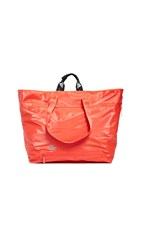 Adidas By Stella Mccartney Studio Bag Tote Bold Orange Solid Grey