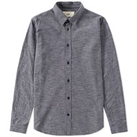 Folk Micro Stripe Shirt Blue