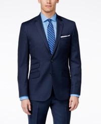 Kenneth Cole New York Navy Solid Extreme Slim Fit Jacket