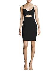 French Connection Lolo Cutout Dress Black