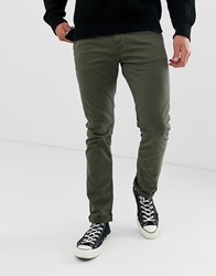 Nudie Jeans Co Slim Adam Chino Trousers In Green