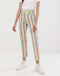 Wrangler Candy Stripe High Rise Mom Jean Multi
