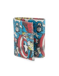 Marvel Tri Fold Leather Captain America Wallet Multi