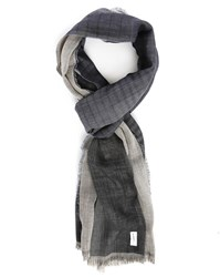 Bill Tornade Navy Double Faced Scarf