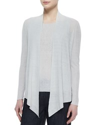 Eileen Fisher Long Angled Linen Blend Cardigan Ivory