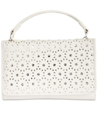 Giani Bernini Softy Perforated Wallet On A String Only At Macy's White Silver