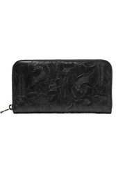 Tomas Maier Embossed Leather Wallet Black