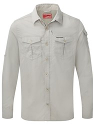 Craghoppers Nosilife Advanced Long Sleeved Shirt Off White