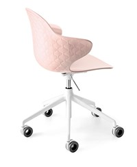 Calligaris Saint Tropez Office Swivel Chair P24p Glossy Pale Pink Polycarbonate