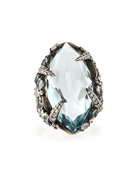 Aqua Quartz London Blue Topaz And Diamond Ring Alexis Bittar Fine
