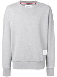 Thom Browne Oversized Loopback Sweatshirt Grey