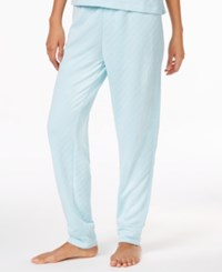 Hue Quilted Knit Pajama Pants Blue