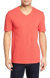 Nordstrom Men's Men's Shop Slub V Neck T Shirt Red Sauce