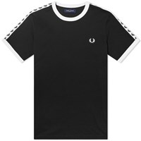 Fred Perry Authentic Taped Ringer Tee Black