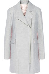 Rebecca Minkoff Finley Two Tone Wool And Silk Blend Coat Gray