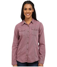 Royal Robbins Sugar Pine Twill Long Sleeve Top Shale Women's Long Sleeve Button Up Brown