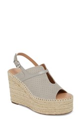 Linea Paolo 'S Everyly Espadrille Wedge Sandal Grey Nubuck Leather