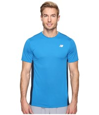 New Balance Accelerate Short Sleeve Barracuda Galaxy Men's T Shirt Blue