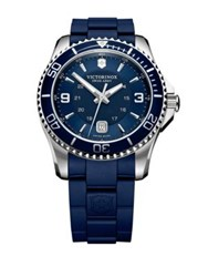 Victorinox Maverick Gs Two Tone Watch Signature Navy