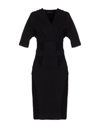 Anna Molinari Knee Length Dresses Black