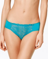 B.Tempt'd By Wacoal B.Gorgeous Sheer Lace Bikini 978236 Tile Blue