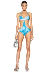 Mikoh Makaha Multi String Racerback One Piece In Blue