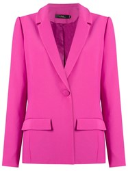 Andrea Marques Panelled Blazer Pink And Purple