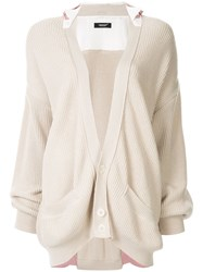Undercover Cotton Layered Cardigan Neutrals