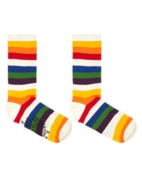 Marc Jacobs Redux Grunge Rainbow Socks Multi Pattern
