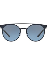 Michael Kors Collection Tinted Round Sunglasses Blue