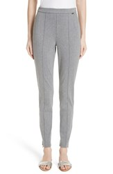 St. John Collection Denim Ponte Crop Leggings Grey Melange