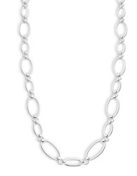 Lauren Ralph Lauren Oval Link Necklace Silver