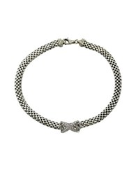 Lord And Taylor Sterling Silver Flat Popcorn Chain Bracelet