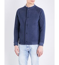 Lee Cotton Jersey Bomber Jacket Blue